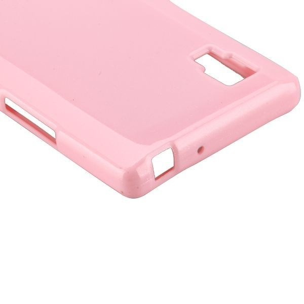 Glitter Shell (Vaaleanpunainen) LG Optimus L9 Silikonisuojus