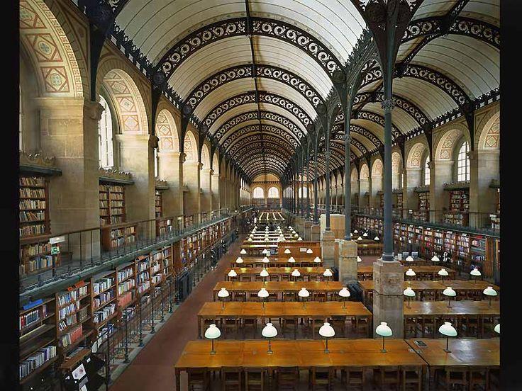 Bibliothèque Sainte-Geneviève, Paris, France.