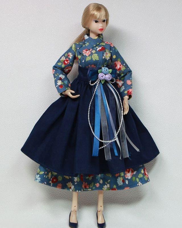 #모모꼬의상 #철릭한복#철릭원피스#모모꼬#한복만들기 #한복장신구#momoko#momokodoll#dolldress #custom#costume #dollstagram #dolls#dolly#인형한복#hanbok#모모꼬한복#개량한복