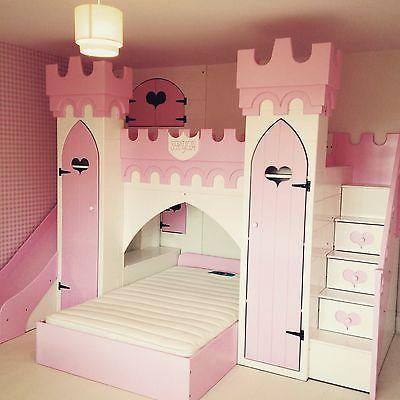 princess castle bed, girls bed, princess Bed.