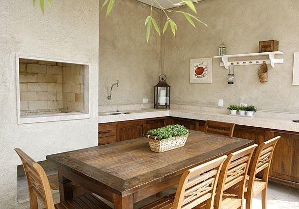 área gourmet rustica