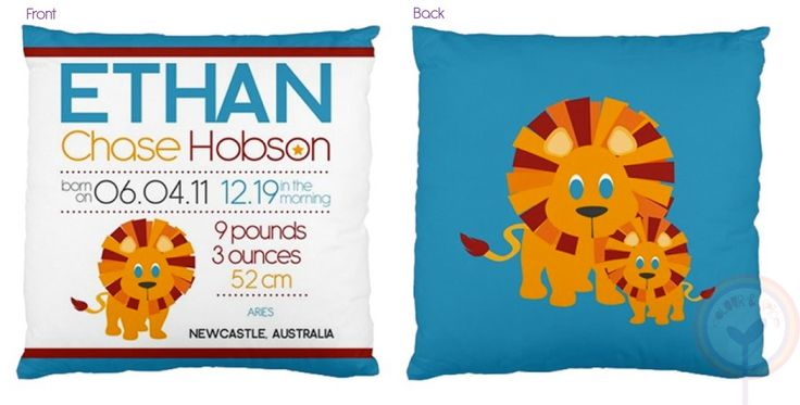 Personalised Cushions by Colour and Spice, $58 (free shipping within Australia) www.notinshops.com.au #cushion #personalised #kidsroom #bedroom #cushion