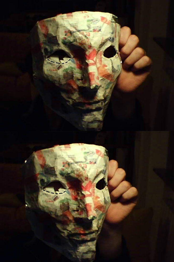 Paper mache mask m scaras pinterest papel mach m scara e adere os - Masque papier mache ...