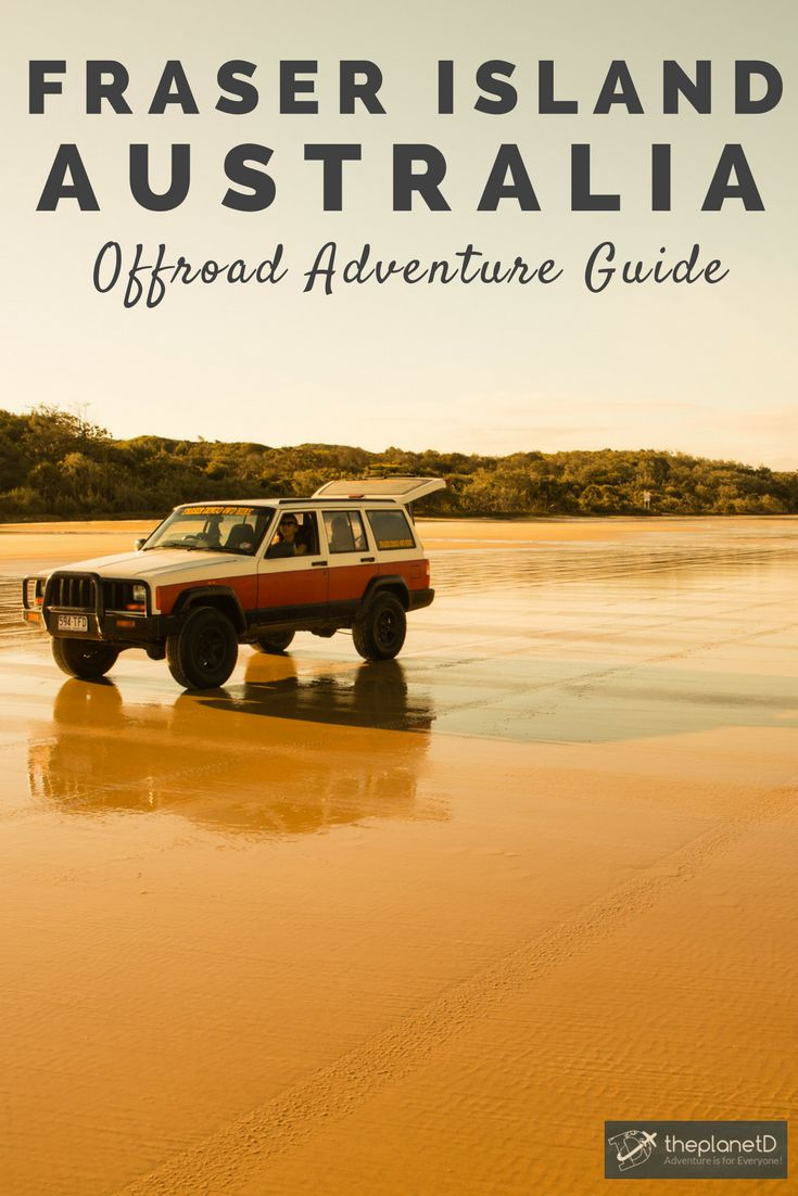 A guide to planning the ultimate self-drive 4wd road trip to Fraser Island, Australia. Drive along the open beach and camp or stay in resorts along the way stopping to see wrecks, lakes, beaches and dingos. Adventure travel in Australia.  Blog by the Planet D #FraserIsland #Australia