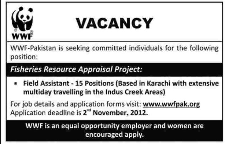 wwf pakistan jobs
