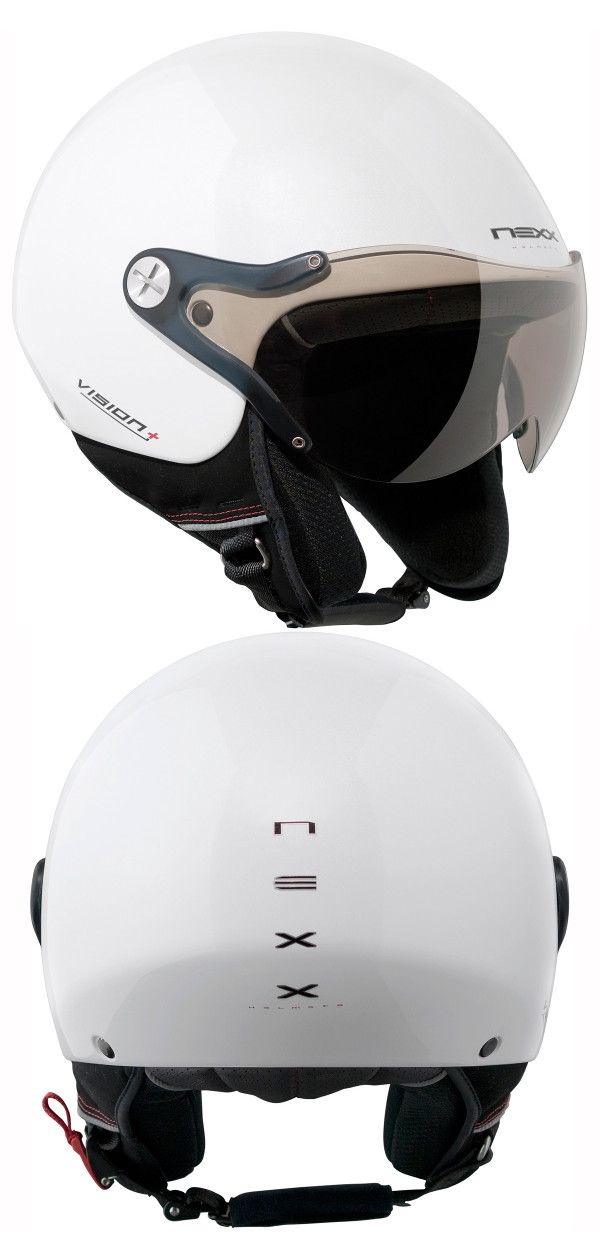 b2fd8ea3 Nexx X60 Vision Plus Helmet in White - Stylish, lightweight, composite  fibre, urban helmet with internal sun visor from #Nexx.