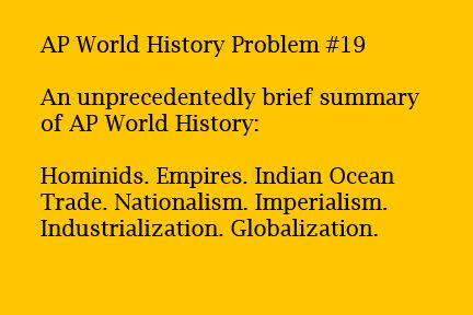 AP World History Problems