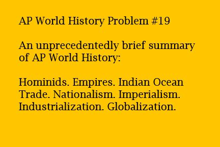 AP World History Problems