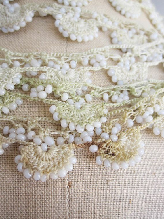 TURKISH OYA LACE / Beaded Trim by sirma on Etsy