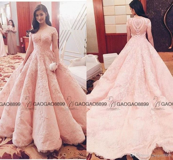 Michael Cinco 2017 Blush Pink Lace Pearls Ball Gown Quinceanera Dresses Dubai Arabic Off Shoulder Sweep Train Prom Party Evening Dress Ball Dresses Online Gowns Dresses From Gaogao8899, $196.29| Dhgate.Com