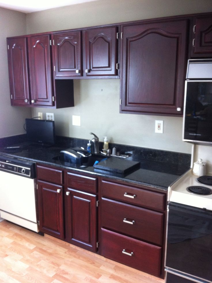 Kitchen Cabinets That Were Golden Oak We Changed It To
