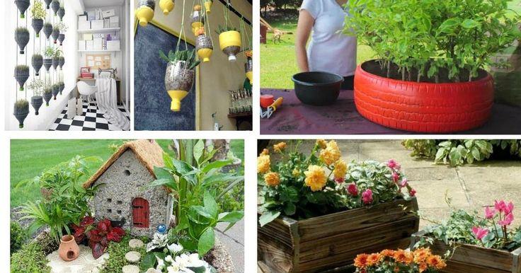 Best 25 manualidades para el jardin ideas on pinterest - Manualidades de jardineria ...