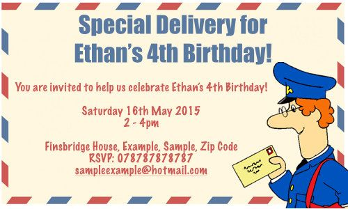 Postman Pat Birthday Party Invitations by NikkisInvitations