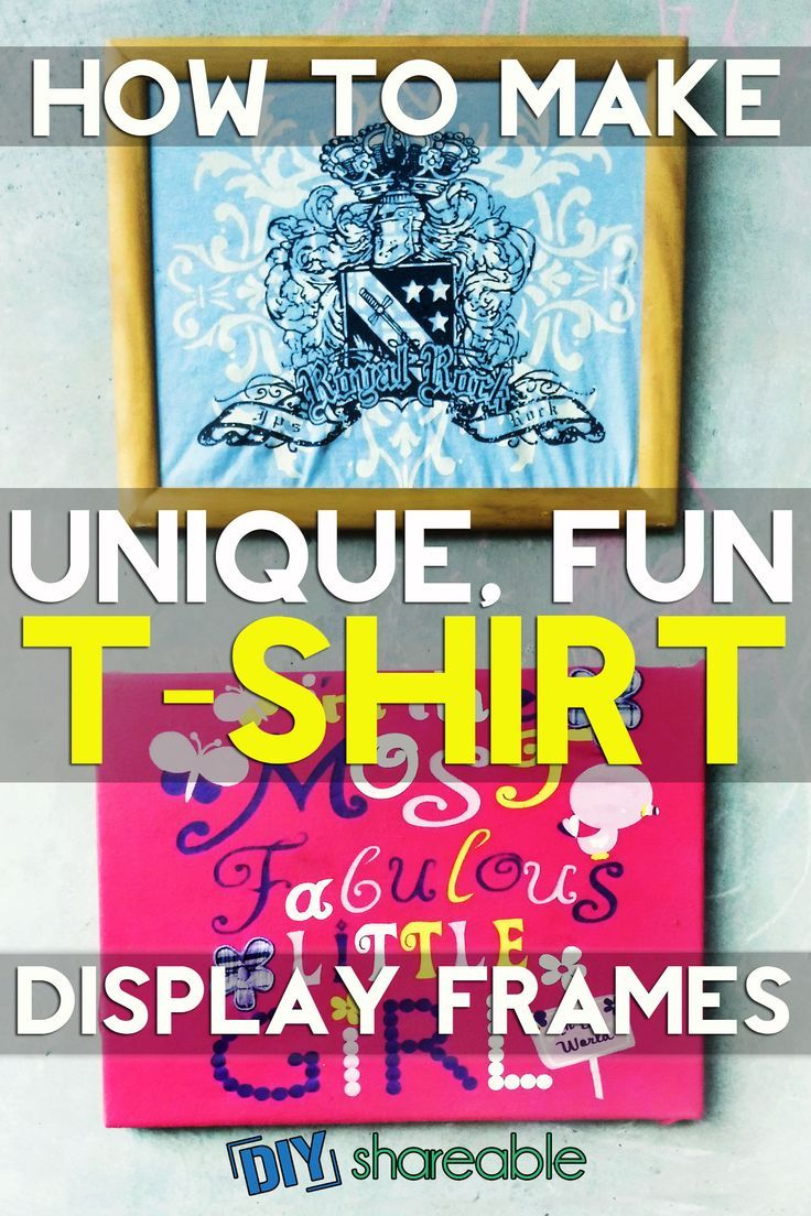 DIY T-shirt display frames to preserve your milestones or those of your children by framing t-shirts from the past. Learn how to continuously enjoy the memories by creating a fun piece of wall art!