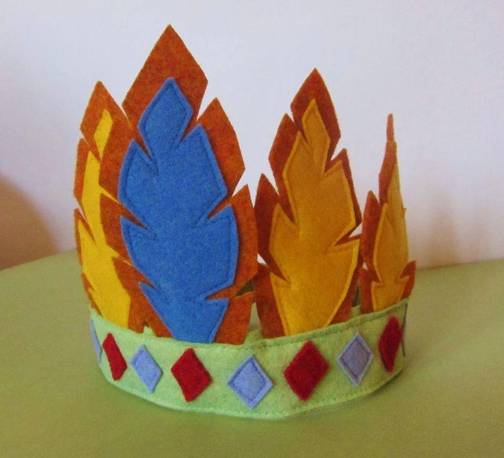 La sciarpa che canta: Tutorial di Carnevale: copricapo indiano in feltro...