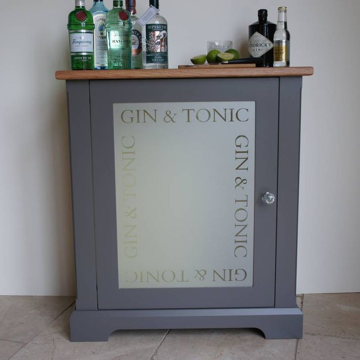 High Quality Gin And Tonic Drinks Cabinet In Choice Of Colours