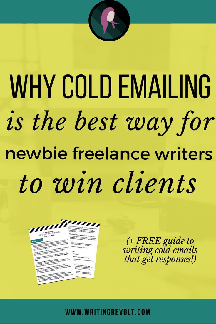 Why Cold Emailing is the Best Way for New Freelance Writers to Win Clients. Lead GenerationEmail ...