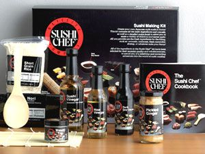 Know someone that loves sushi? Now it'll be alot easier, cheaper, and more fun to make it at home with the Sushi Chef 10-Piece