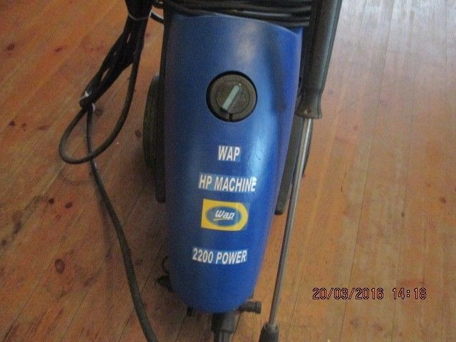 High Pressure Washer for Sale. Best make on the market WAP. Replacement Value 15000 Rand. Selling for R2800 onco. 072 409 3117