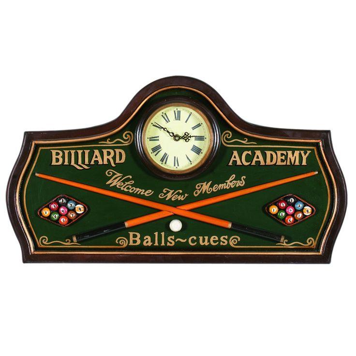 RAM Billiards Game Room Clocks R824