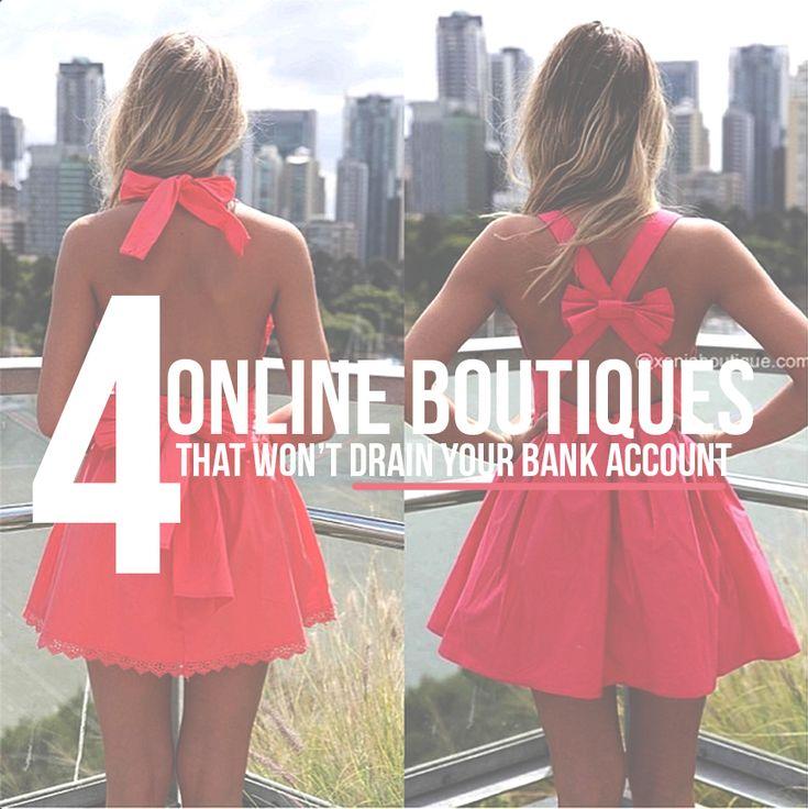 4 Online Boutiques that WON'T drain your back account!