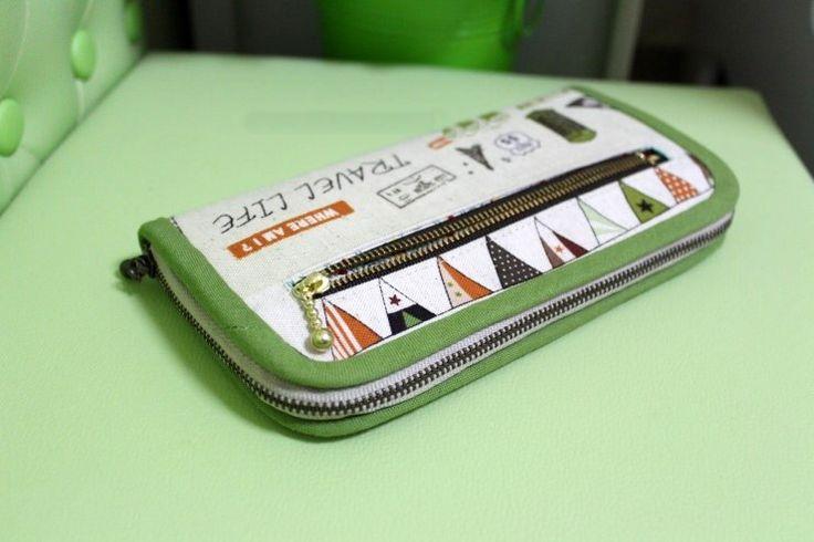 DIY Fabric Wallet pro ženy Picture Tutorial.  ~ Šijeme měšec - kabelku.