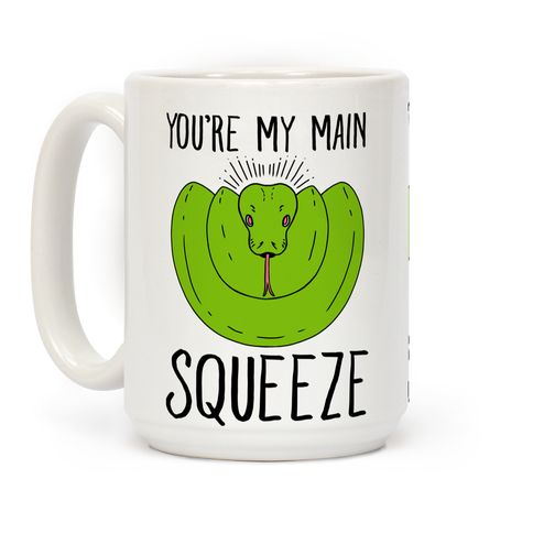 You're my main squeeze says the snake in love. If there is someone you like or are just a scaley fan of snakes, this adorable you're my main squeeze snake pun pillow, is perfect for the python, boa constrictors, or tasty dinner's in your life. Snakes know how to give the best hugs !   HUMAN