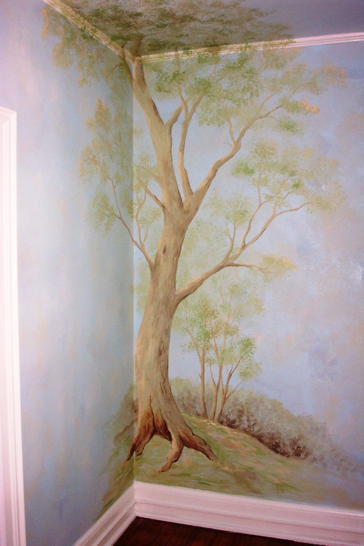 Best 25 tree murals ideas on pinterest for Beatrix potter mural wallpaper