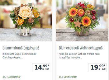 Lidl: Weihnachtliche Blumensträuße ab 10,99 Euro frei Haus https://www.discountfan.de/artikel/technik_und_haushalt/lidl-weihnachtliche-blumenstraeusse-ab-1099-euro-frei-haus.php Der Discounter Lidl bietet noch bis zum 10. Dezember ausgewählte Blumensträuße für Weihnachten mit einem Rabatt von vier Euro an. Discountfans können sich so einen kleinen Strauß für nur 10,99 Euro mit Versand sichern. Lidl: Weihnachtliche Blumensträuße ab 10,99 Euro frei Haus (Bild: Lidl