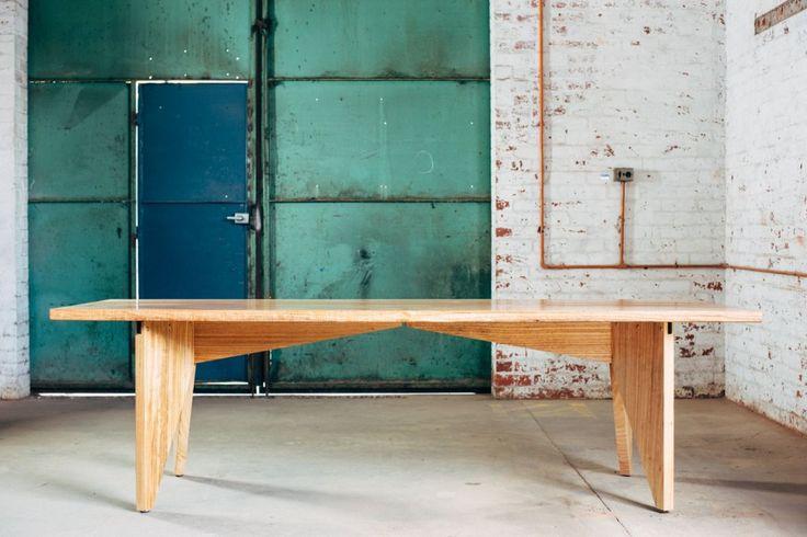 Slab Table by Hugh Makin