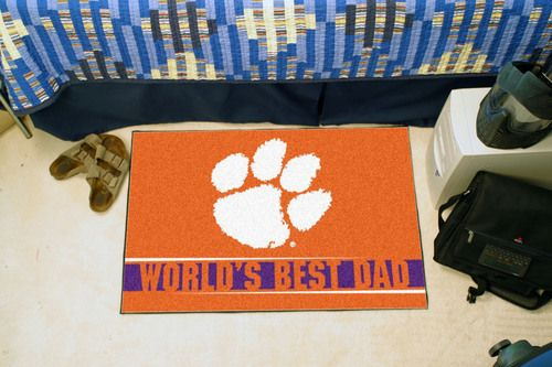 "Clemson Tigers World's Best Dad Starter Area Rug Floor Mat 20"""" X 30"""""