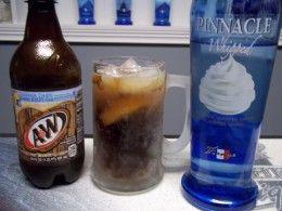 Vodka Root Beer Float whipped vodka