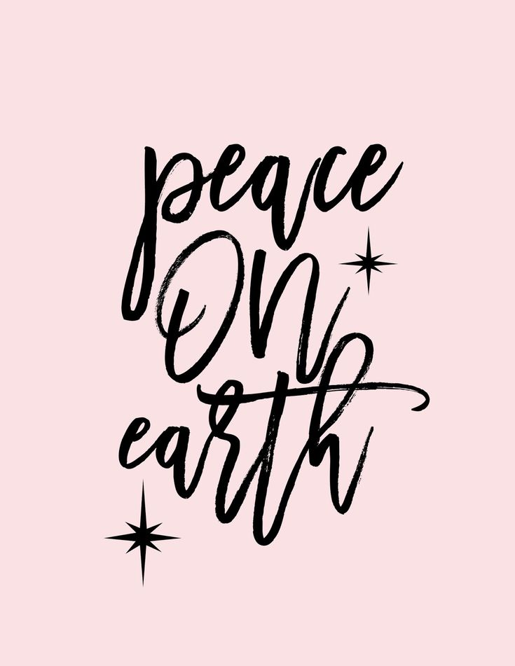 A Bubbly Life: Peace on Earth Free Art Printable
