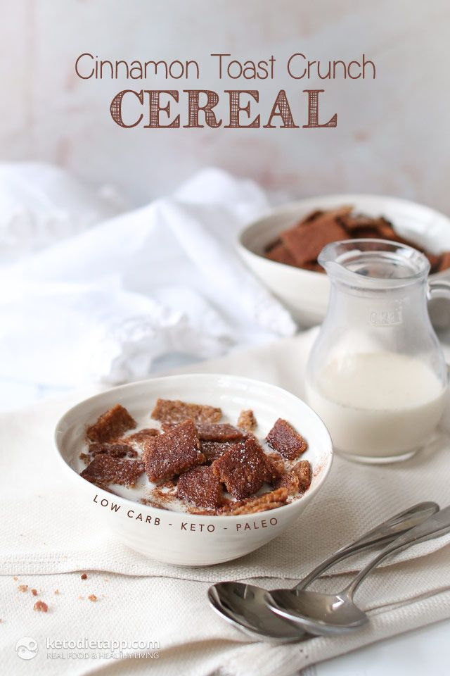 Cinnamon Toast Crunch Cereal (low-carb, keto, paleo) [I do not like flax so I substitute pecan meal or hemp hearts]
