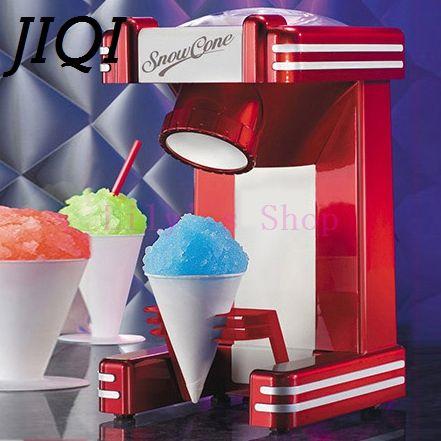 ==> [Free Shipping] Buy Best JIQI Mini Snow Drink Slushy Maker ice shaver block shaving machine ice crusher ice smoothies Snow Cone machine kitchen tools EU Online with LOWEST Price | 32666016174