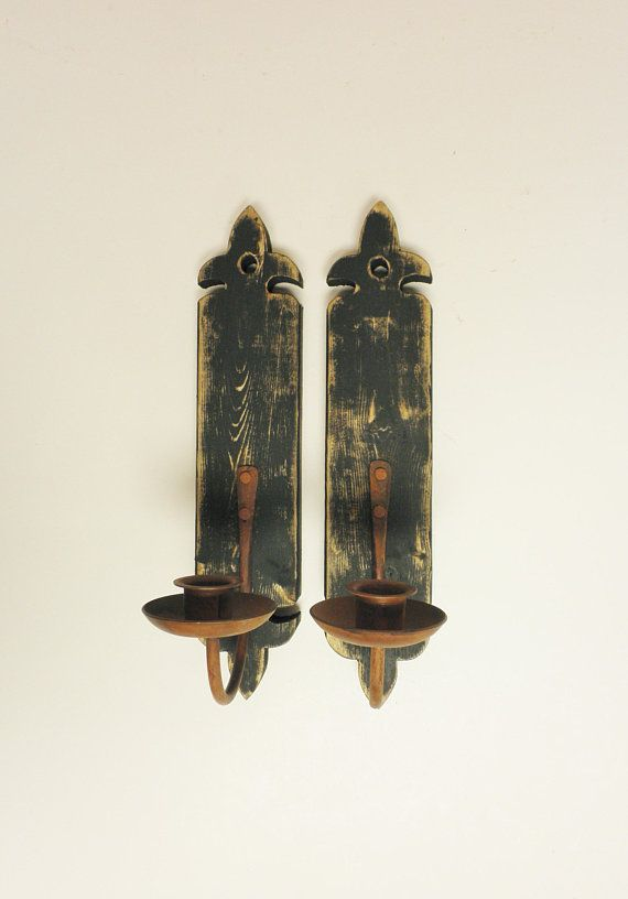 Wall Sconce Pair Wood Sconces Metal Sconces Wall Sconces