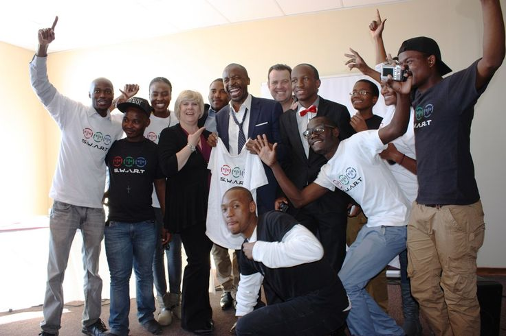 Chris and Suzanne Styles with the S.W.A.R.T team and DJ Sbu [Sbusiso Leope]