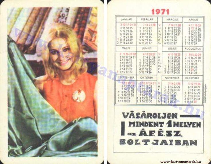 1971 - 1971_0562 - Régi magyar kártyanaptárak