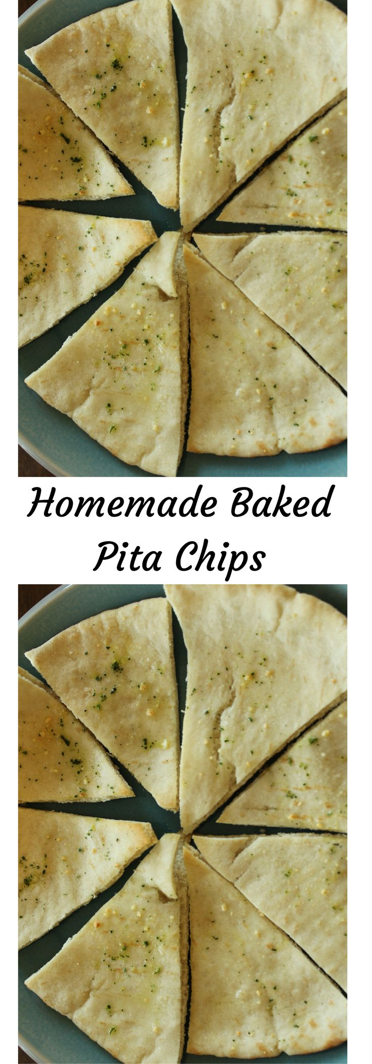 This homemade pita chips healthy recipe is easy to make. Learn how to make homemade baked pita chips. Click for the recipe or Pin to save for later.