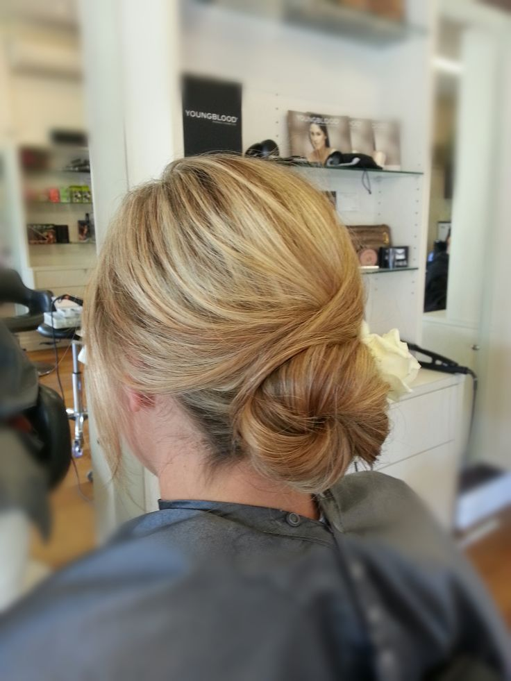 Bridal hair. #bun #formal #wedding #upstyle