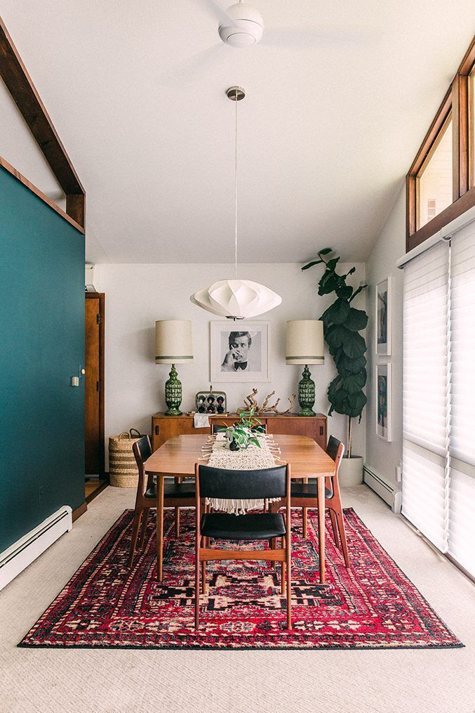 Painting A Moody Dark Green Feature Wall In 2020 Eclectic Dining