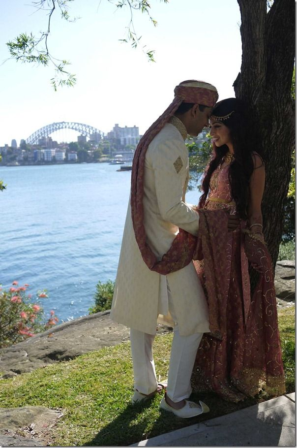 An Indian wedding by Sydney harbour