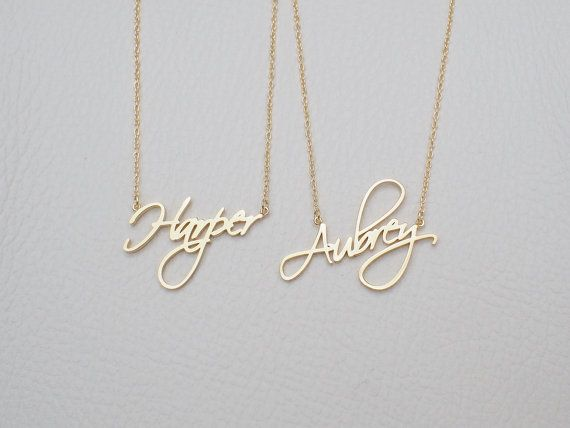 NAME NECKLACE - FONT F40 You can have your own name personalized on this necklace. * Maximum number of character: 7 * The name is 3mm-10mm