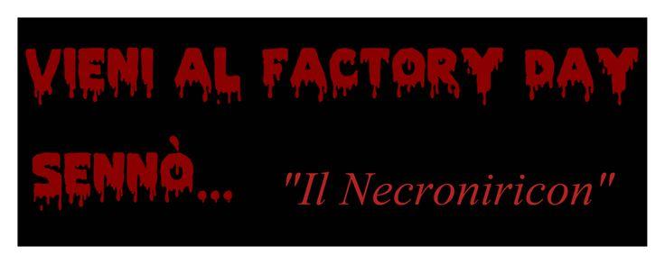 Banner promozionale per il Factory Day (Telese, Parco delle Terme - 30/05/2015)