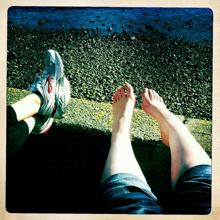 Feet at Oriental Bay