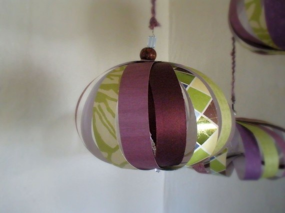 purple and green mobile would make cute decorations. Black Bedroom Furniture Sets. Home Design Ideas