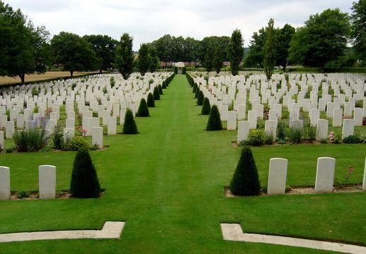 Ecoivres Military Cemetery, Pas de Calais, France.