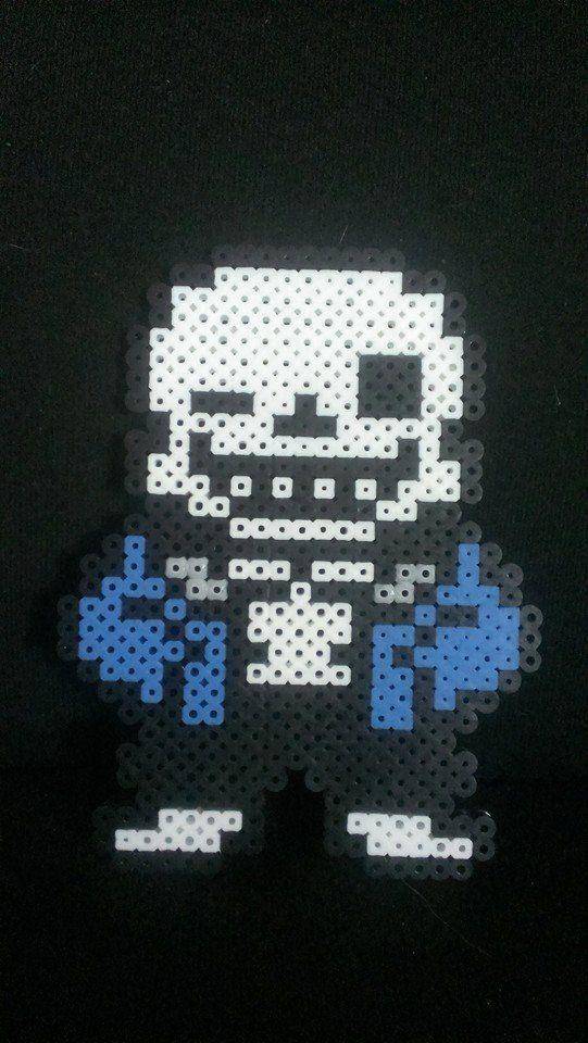 Undertale Sans Pixel Art Bead Sprite kandi by MelParadise on Etsy