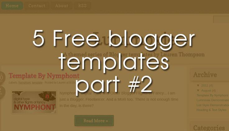 5 Δωρεάν θέματα για blogger part #2