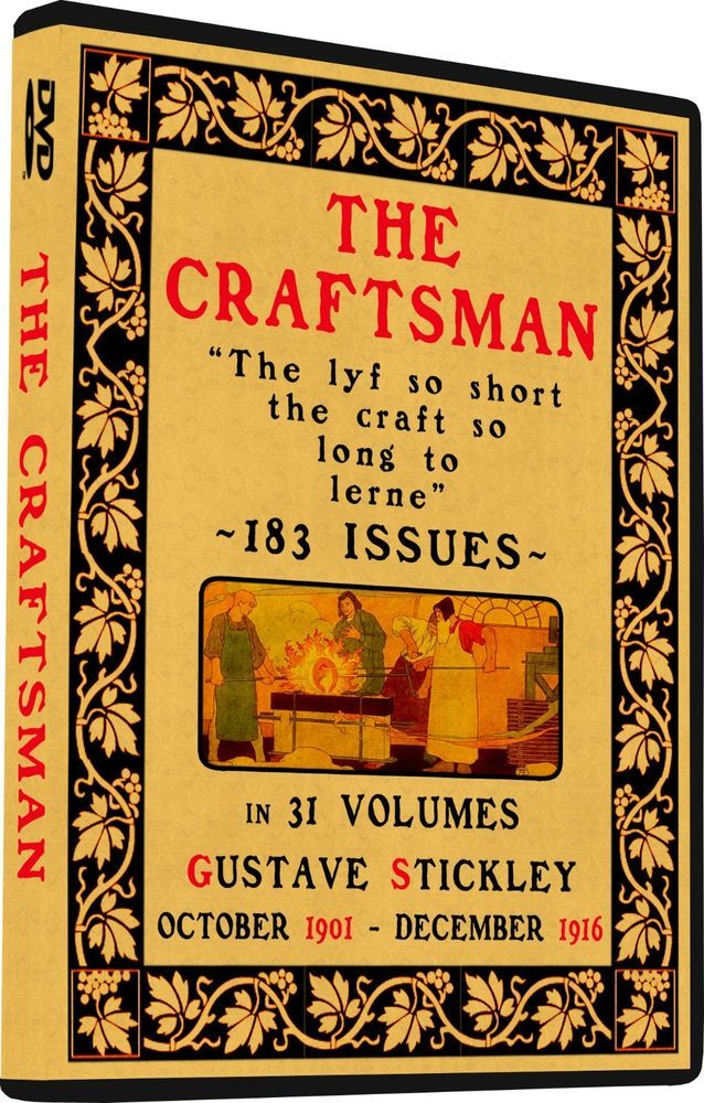 Craftsman Magazine Gustav Stickley House Plans Arts Amp Crafts 183 Issues On Dvd Stickley